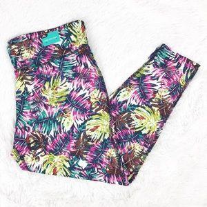Pants - NWT tropical leaf print yoga pants sz XL